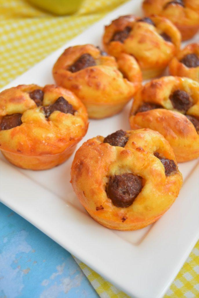 Muffins aux merguez