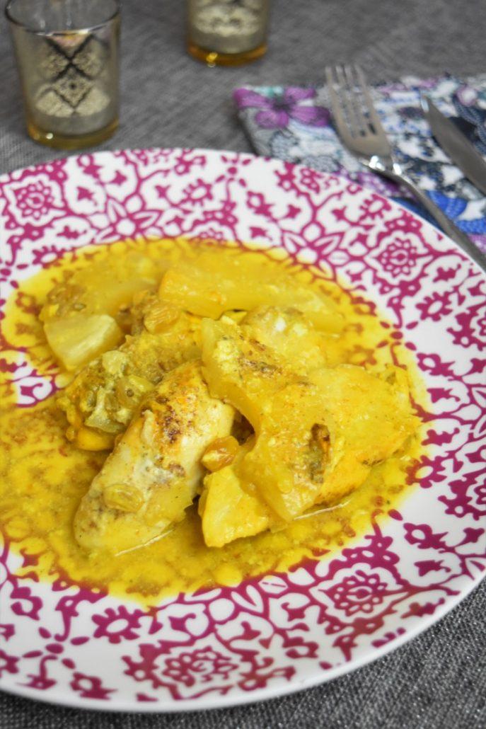 Tajine de poulet à l'ananas