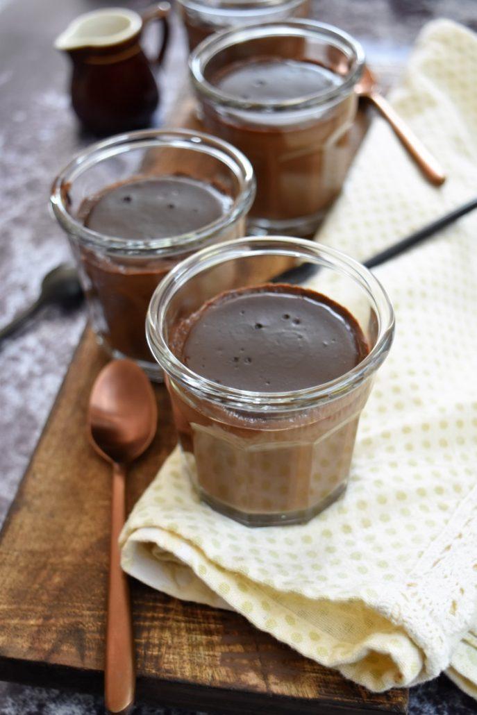 Crèmes au chocolat et café