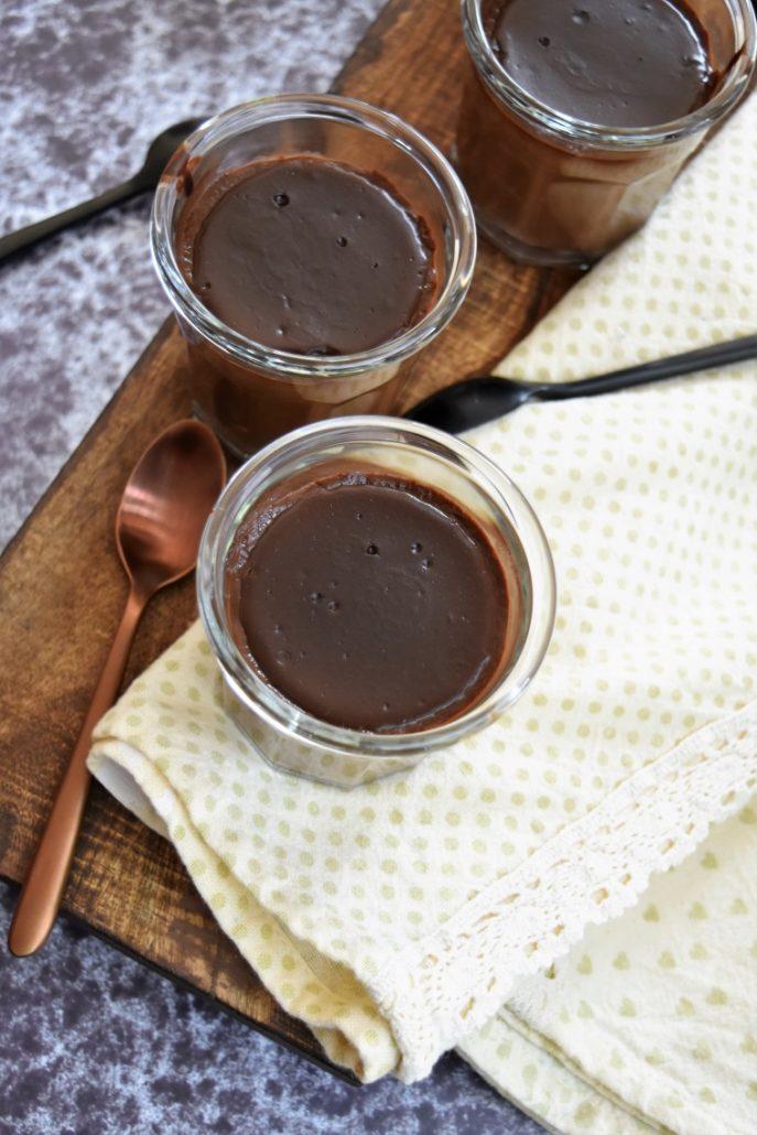 Pots de cème au chocolat et café