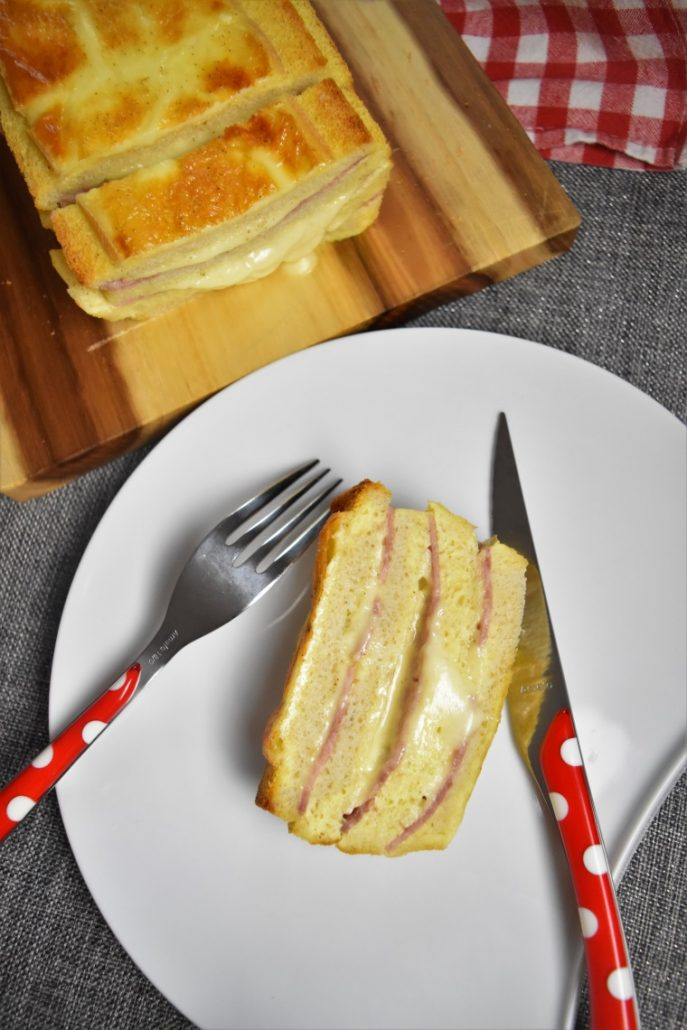 Croque cake jambon raclette