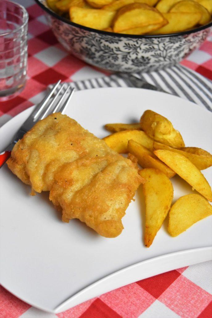 poisson pané et frites à l'anglaise
