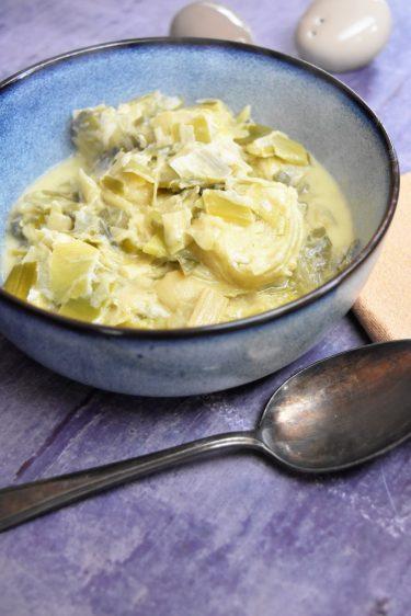 Poireaux à la moutarde au Cookeo