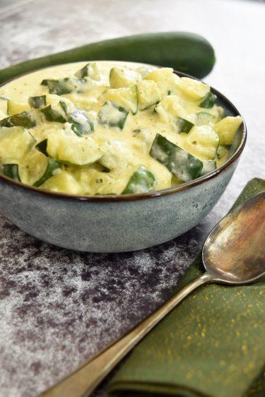 Courgette au Boursin Cuisine ail et fines herbes