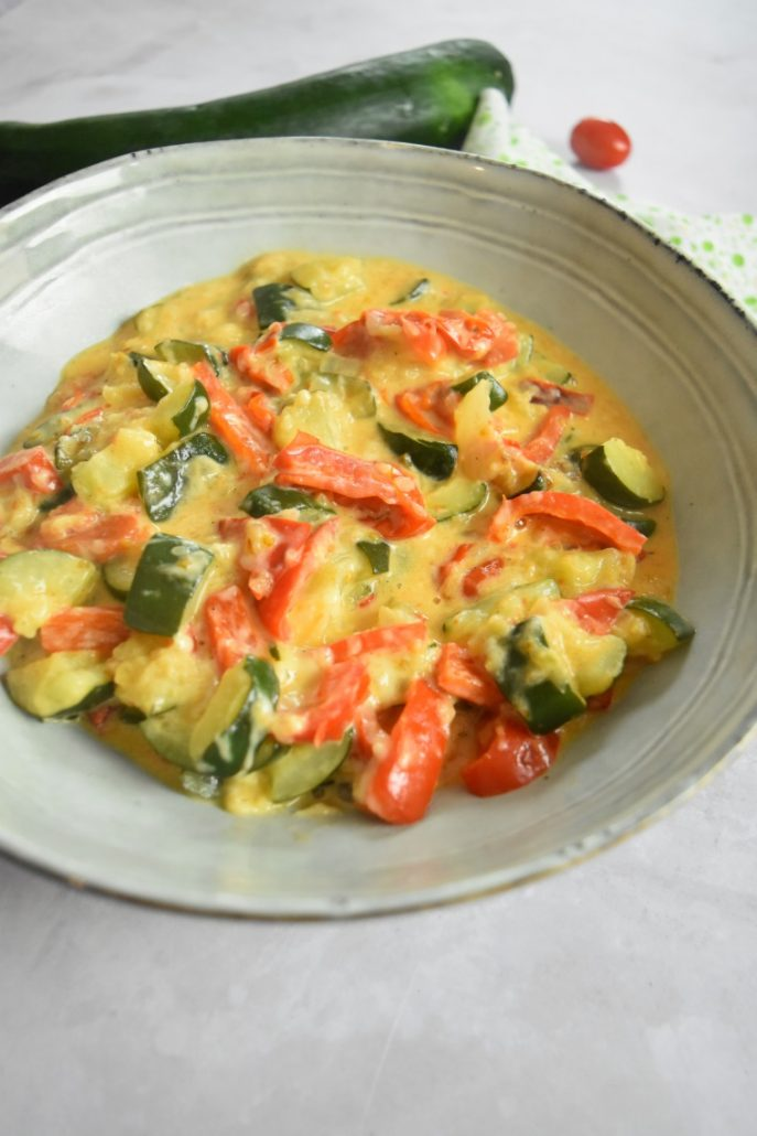 Courgettes, poivron et tomates au Cookeo