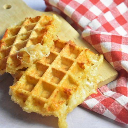 Mozzarella panée et gaufrée