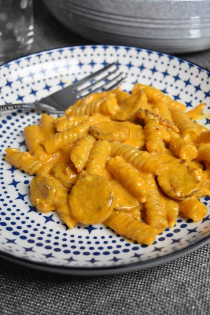 Pâtes au chorizo au Cookeo