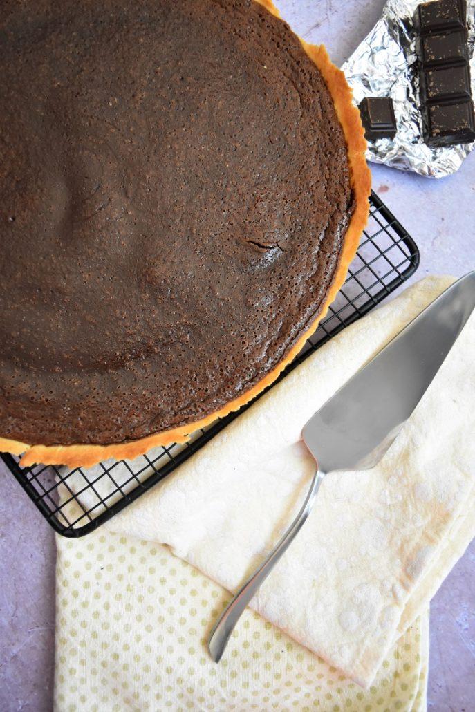 Tarte au chocolat et nutella