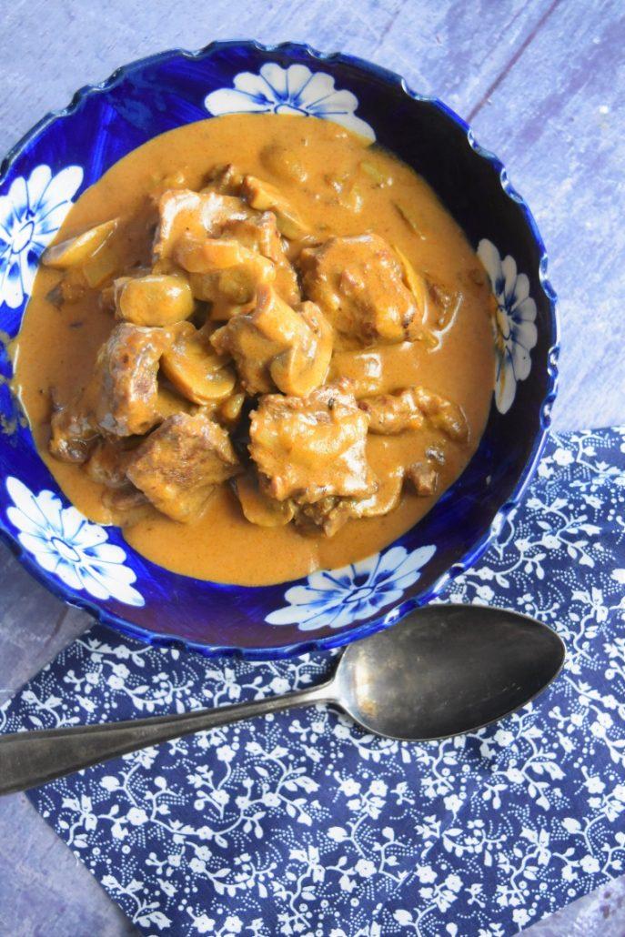 Boeuf stroganoff facile au Cookeo