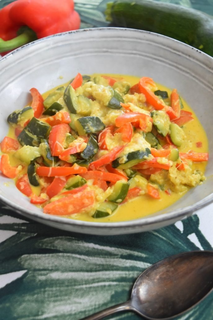 Courgettes au curry au Cookeo