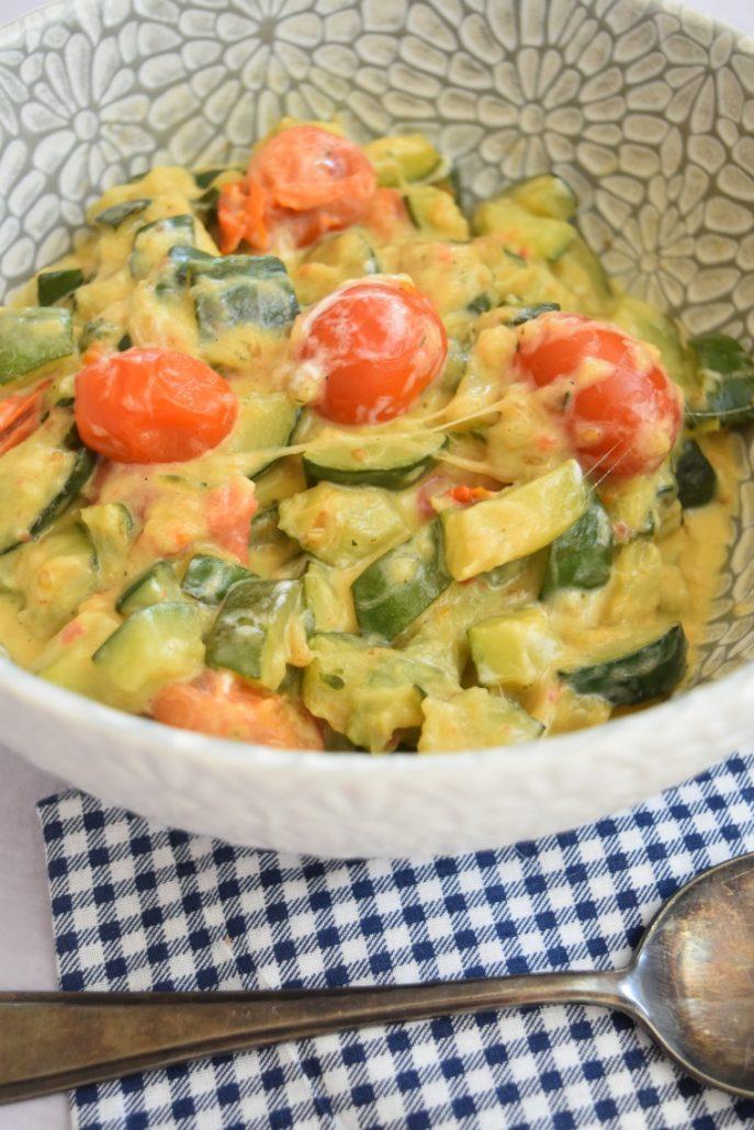 Légumes à la mozzarella