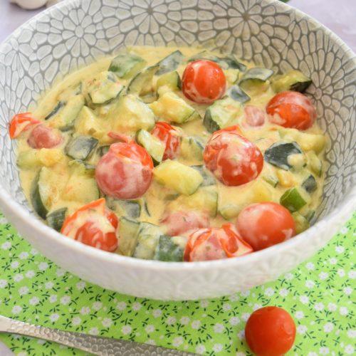 Courgettes et tomates cerises au Cookeo