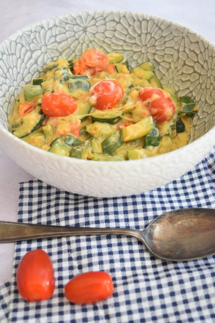 Courgettes et tomates au Cookeo