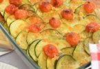 Courgettes, tomates, mozzarella