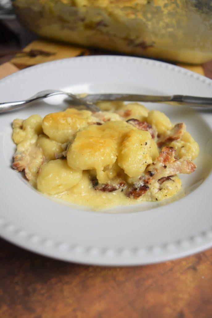 Gnocchi au poulet et fromages