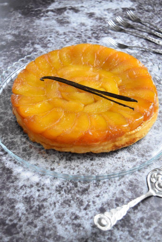 tarte aux pommes renversée