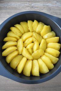 Disposition des pommes de la tarte tatin