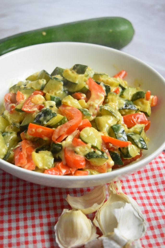 Courgette et poivron au Cookeo