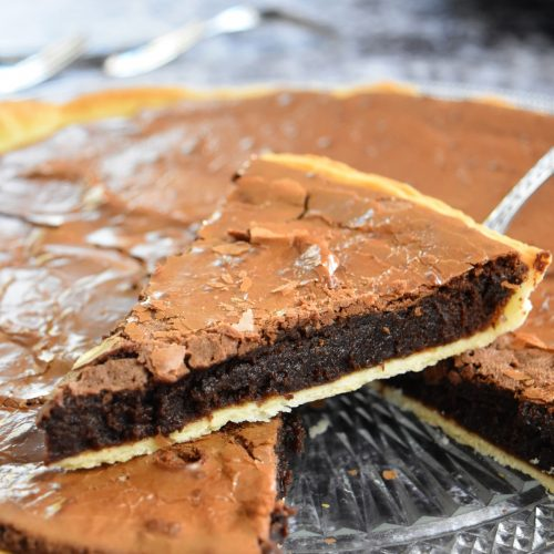 Tarte façon brownie