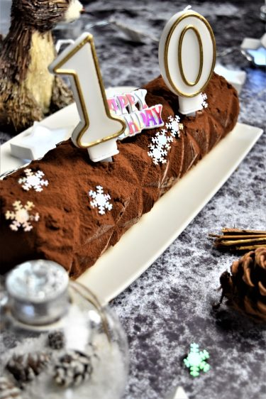 Bûche au chocolat comme un cheesecake