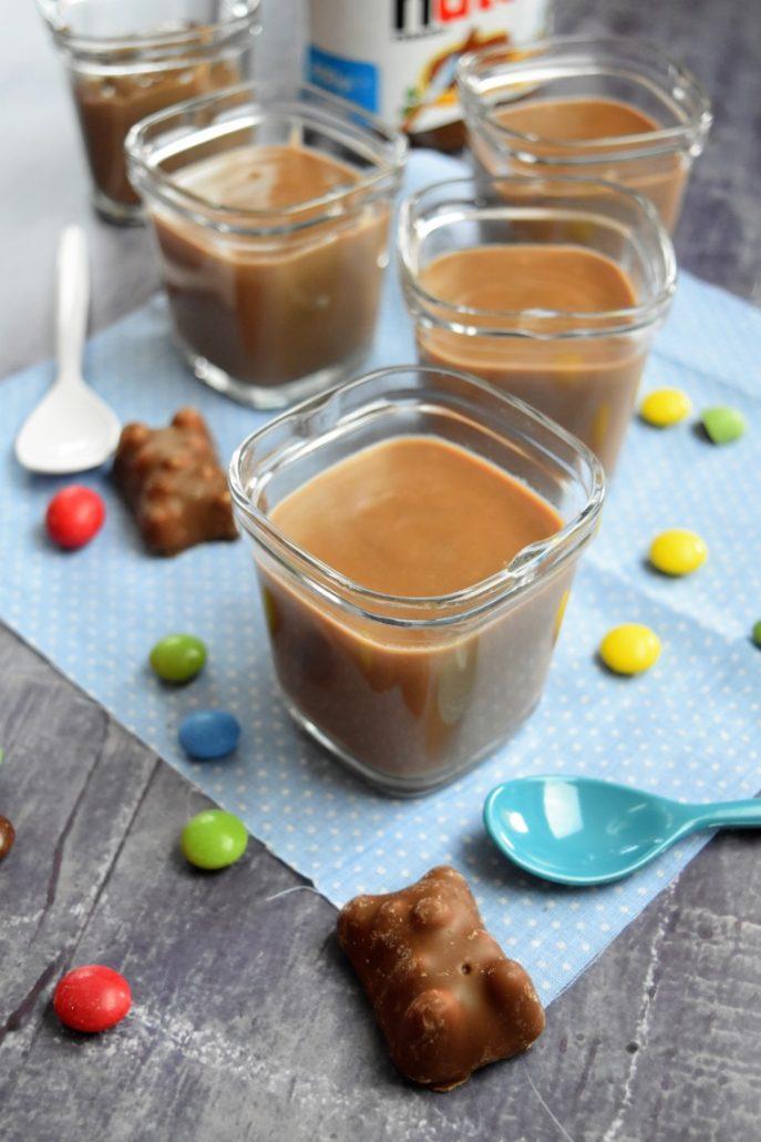 Petits pots de crème au nutella