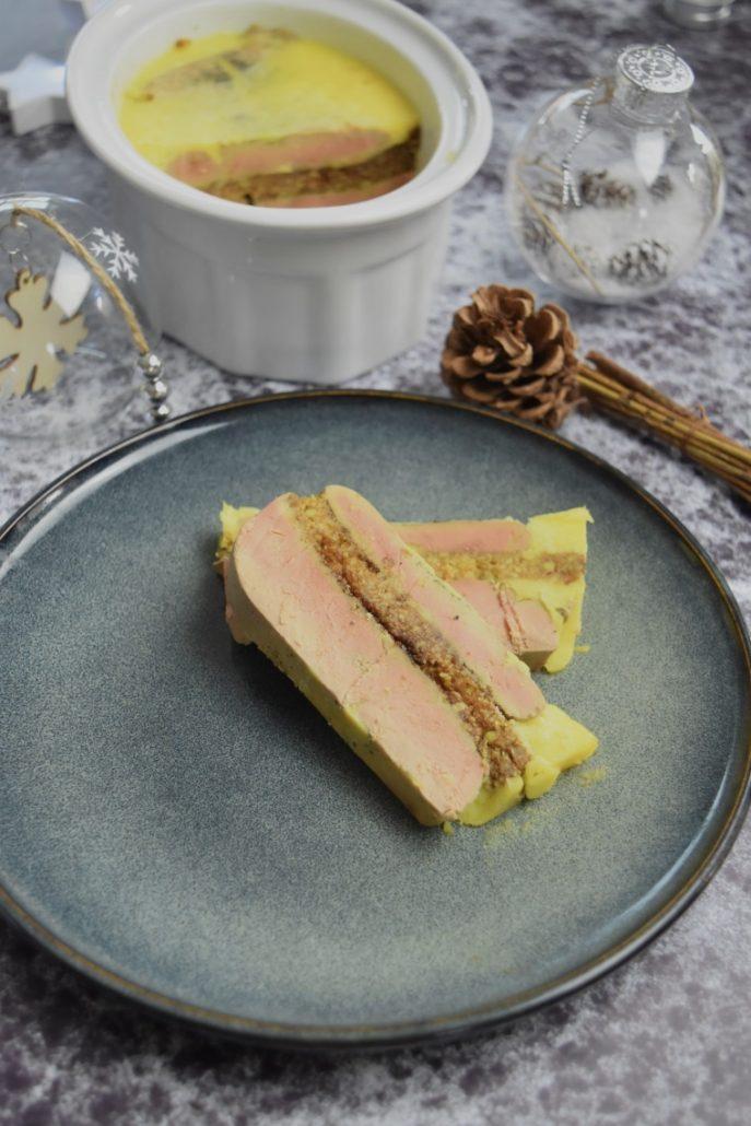 Foie gras maison au pain d'épices