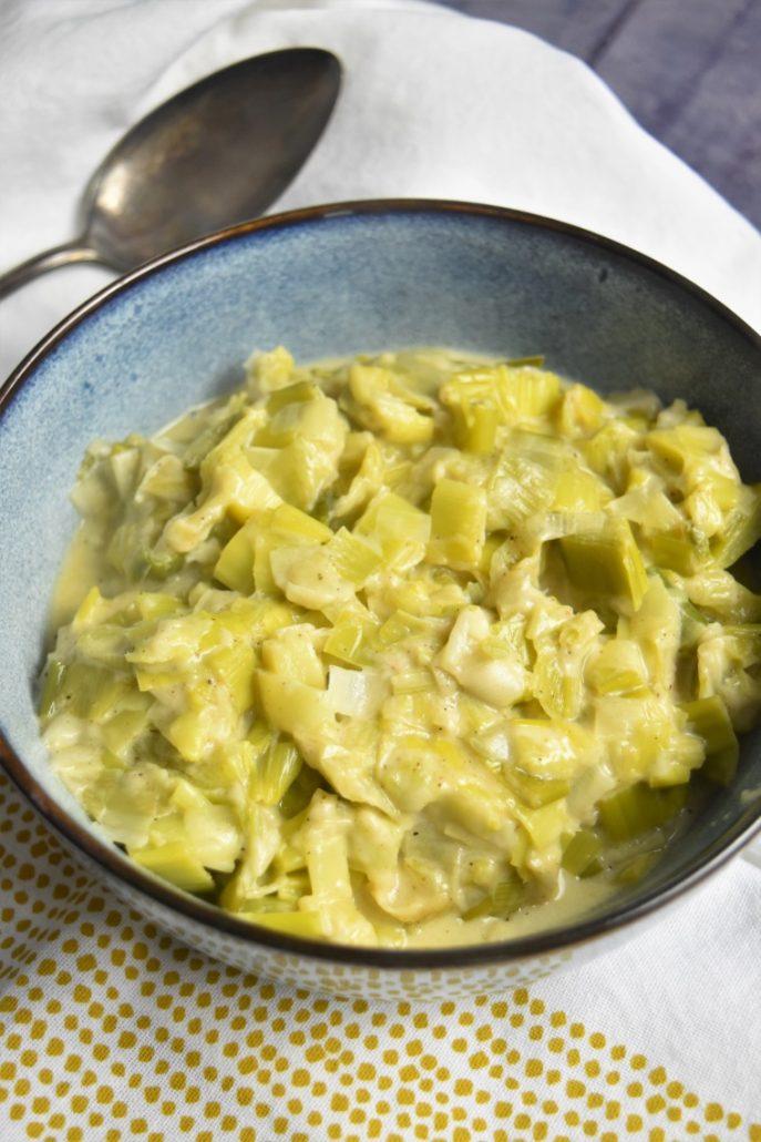 Poireaux à la crème et fromage