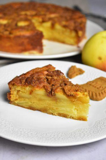 Gâteau aux pommes et croustillant spéculoos
