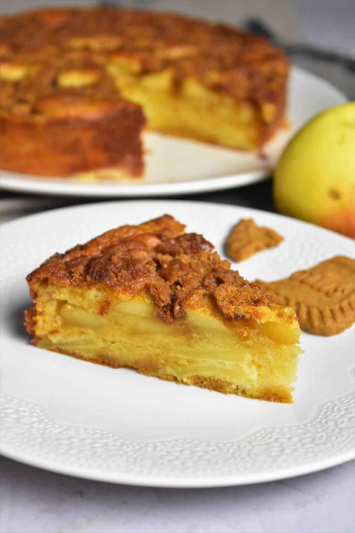 Gâteau aux pommes, spéculoos et caramel - LE gâteau délice