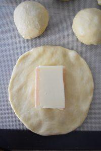 Gaufre fourrée de fromage à raclette