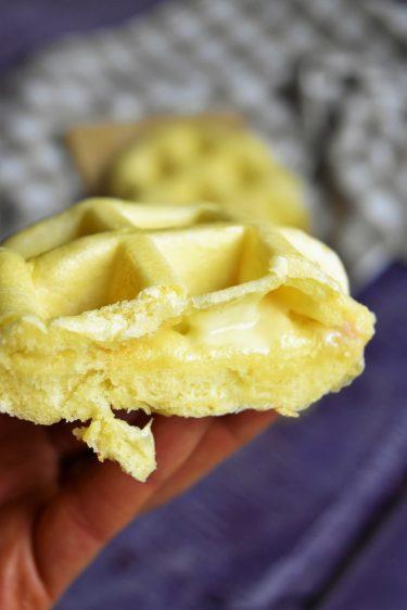 Gaufre salée au fromage à raclette
