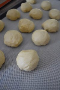 Pâte à gaufres en boules