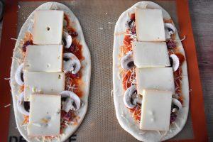 Préparation de pizza