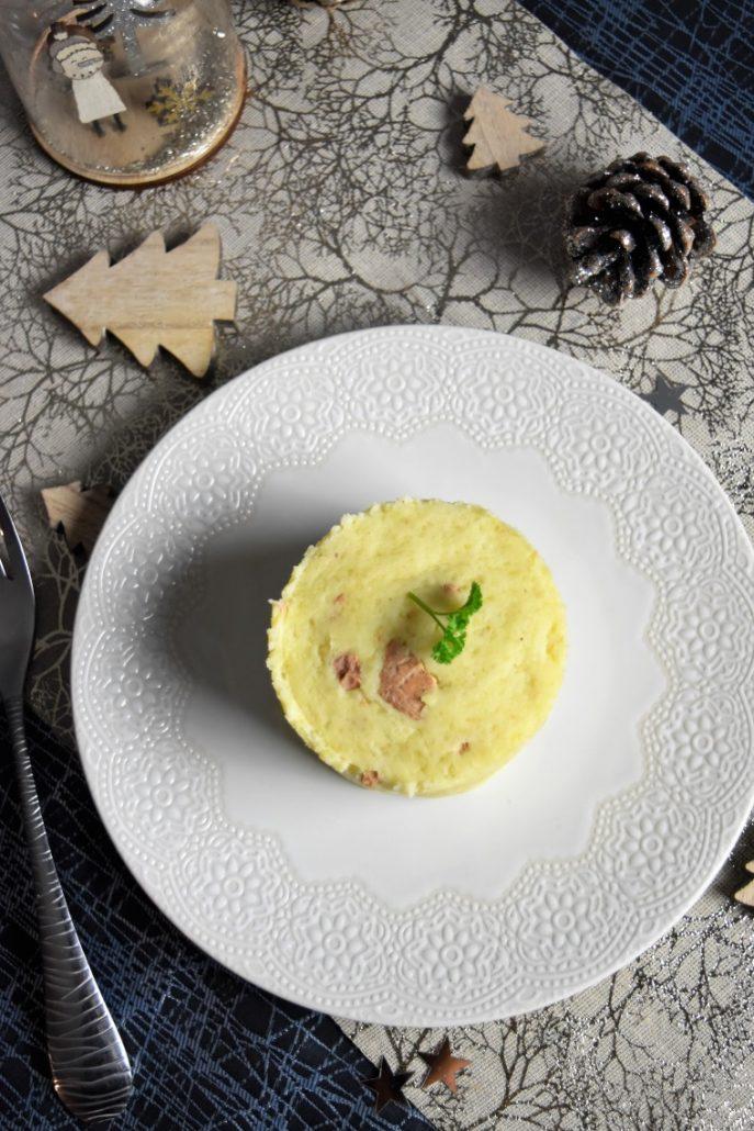 Purée au foie gras en cercle