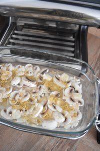 Préparation du risotto au foie gras