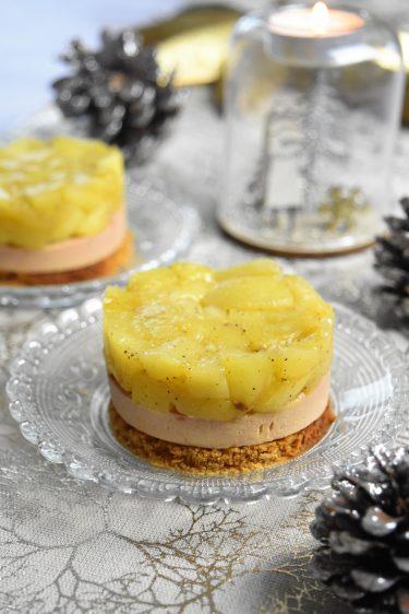 Mini tatin au foie gras