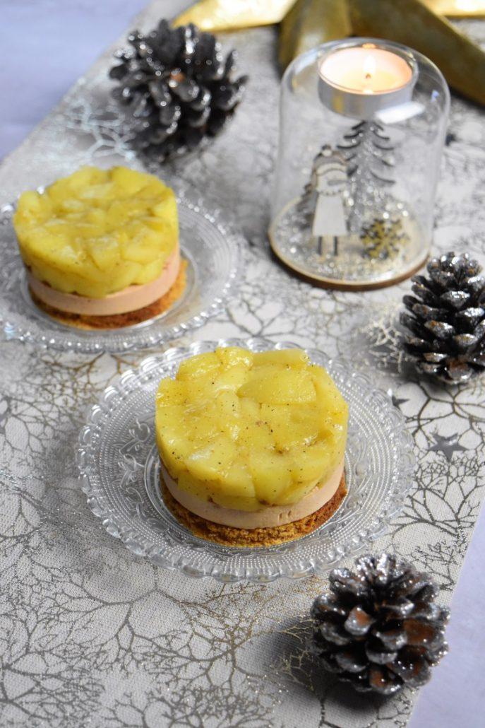 Tatin salée au foie gras