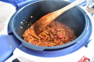 Pâtes et viande hachée au Cookeo