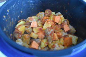 Porc au Cookeo avec patates douces et pommes de terre