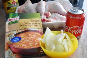 Ingrédients pou le poulet coca