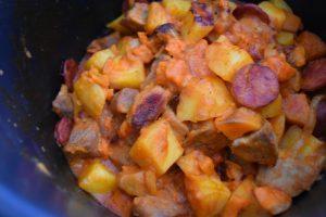 Sauté de porc au chorizo cuit au Cookeo