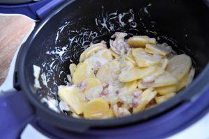 Tartiflette en cuisson Cookeo