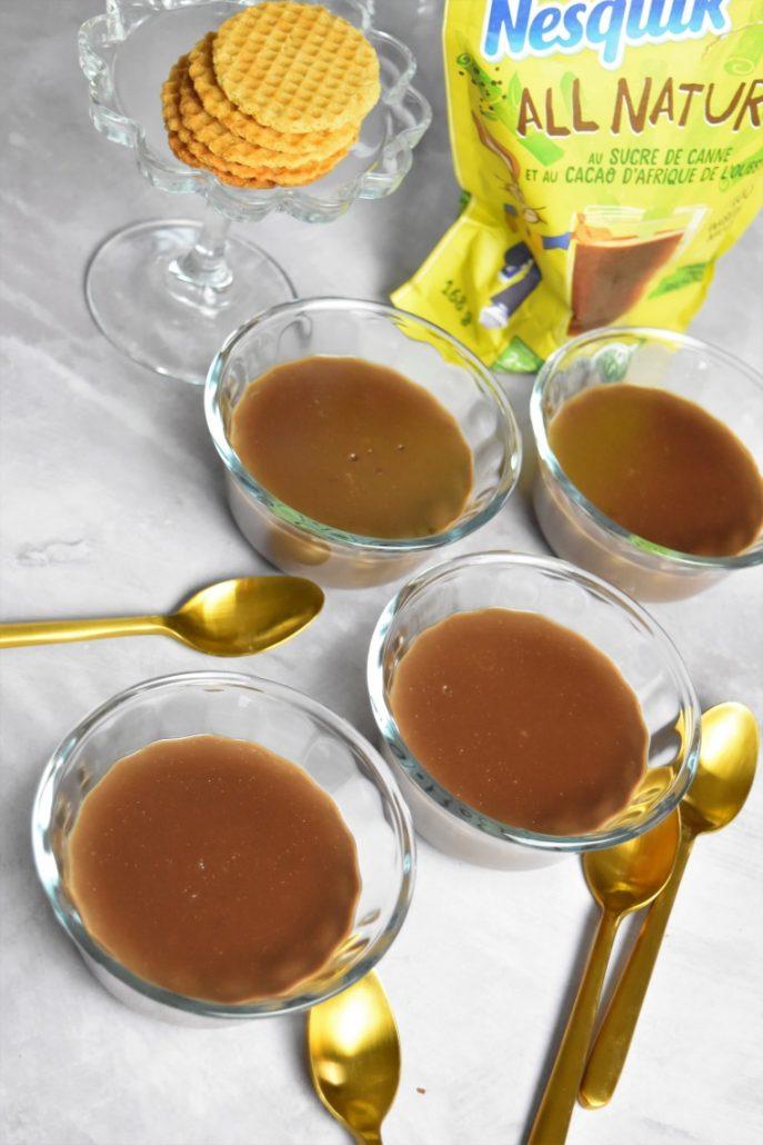 Crème dessert au cacao sucré