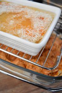 Crevettes et riz en cuisson basse température