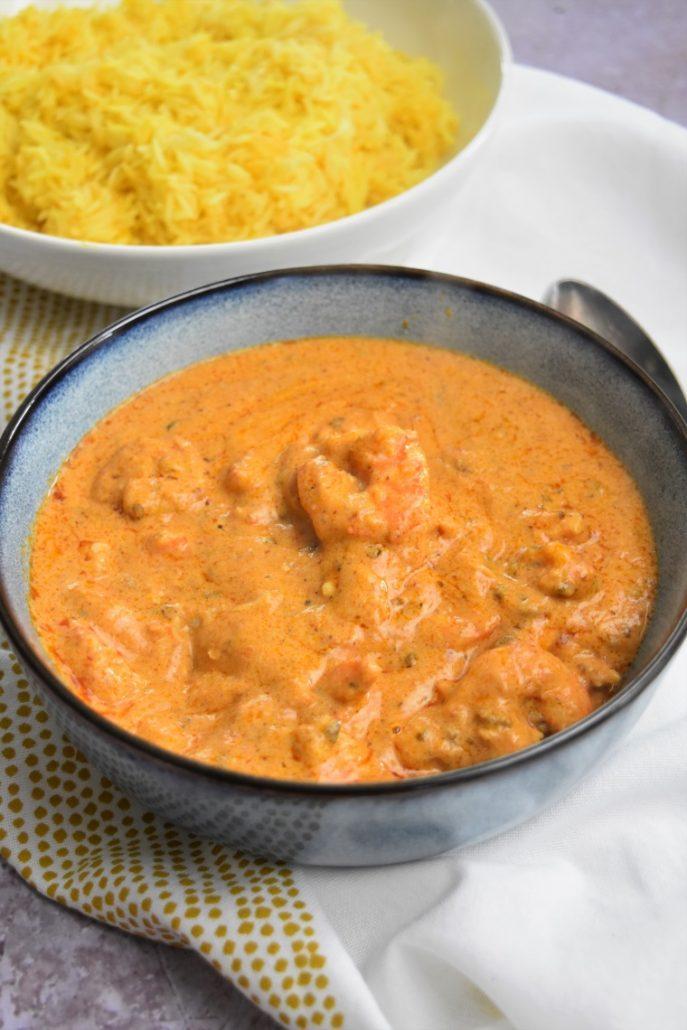 Crevettes à la crème et pesto cuisson omnicuiseur
