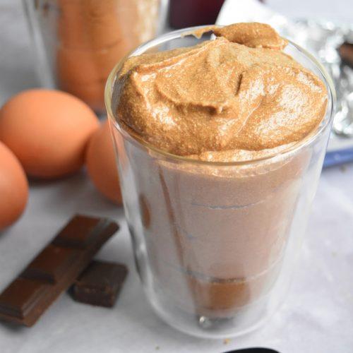 Mousse chocolat noir et chocolat lait