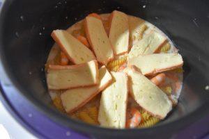 Pâtes aux crevettes et fromage au Cookeo