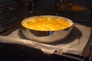Cuisson du flan à l'abricot