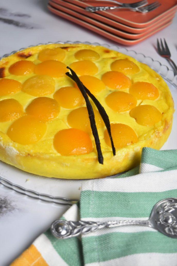 Flan aux abricots et vanille