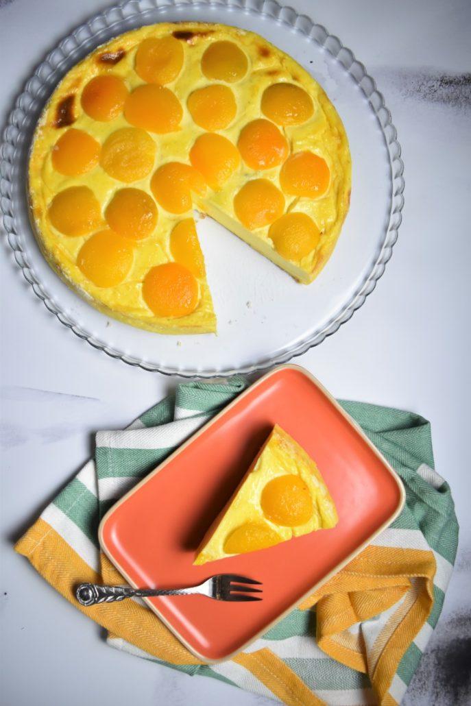 Flan à l'abricot sans pâte